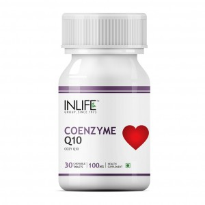 Buy Herbal INLIFE Coenzyme Q10, 100mg 30 Chewable Tabs Fertility Supplement For Male Female - Nykaa