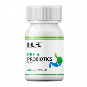 Buy INLIFE Prebiotics & Probiotics, 60 Capsules, Digestion Acidity Supplement - Nykaa
