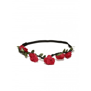 Buy Toniq Red Floral Head Wrap - Nykaa