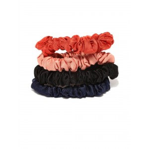 Buy Toniq Set of 4 Solid Color Scrunchies - Nykaa