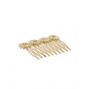 Buy Toniq Gold Floral Hair Comb - Nykaa