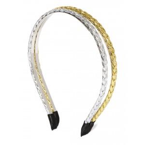 Buy Toniq Set Of 2 Gold Braided Hair Band - Nykaa