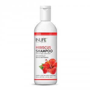 Buy INLIFE Natural Hibiscus Anti hair Fall Shampoo 200ml Soap Paraben Free  - Nykaa