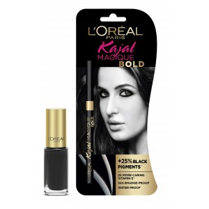 Buy Herbal L'Oreal Paris Kajal Magique Bold + Color Riche Vernis Black Swan - Nykaa
