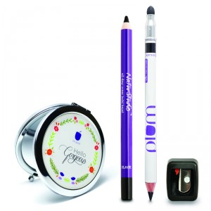 Buy Plum Kajal Duo Combo with Free Mirror and Free Flip Tip Sharpener - Nykaa
