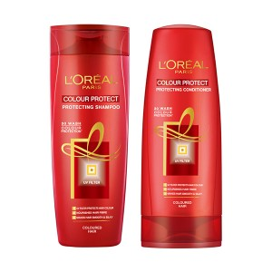 Buy L'Oreal Paris Colour Protect Shampoo + Colour Protect Conditioner - Nykaa