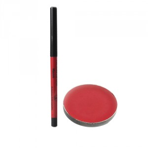 Buy PAC Lip Color Pan- No 17 (Red) + Auto Lip Liner - Mauve - Nykaa