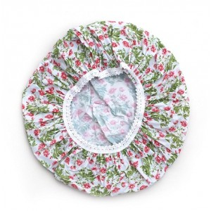 Buy Basicare PVC Shower Cap With Green & Red Pattern - Nykaa