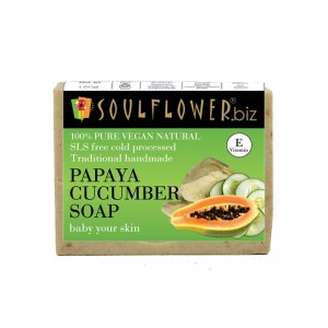 Buy Soulflower Papaya Cucumber Baby Your Skin Soap - Nykaa