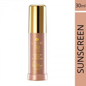 Buy Herbal Lakme 9 To 5 Hydrating Super Sunscreen SPF 50 - Nykaa