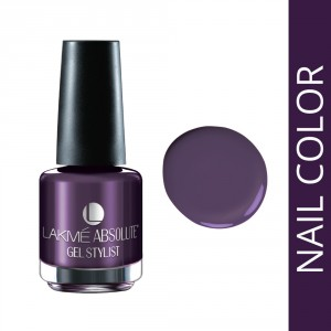 Buy Lakme Absolute Gel Stylist Nail Polish - Purple Orchid - Nykaa