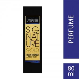 Buy Herbal Axe Signature Gold Italian Bergamot & Amber Wood Perfume - Nykaa