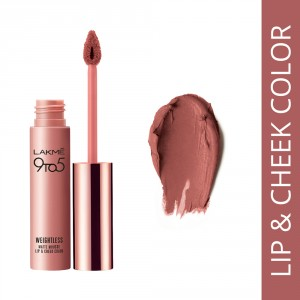 Buy Lakme 9 to 5 Weightless Matte Mousse Lip & Cheek Color - Blush Velvet - Nykaa