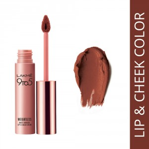 Buy Lakme 9 to 5 Weightless Matte Mousse Lip & Cheek Color - Coca Soft - Nykaa