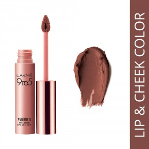 Buy Lakme 9 to 5 Weightless Matte Mousse Lip & Cheek Color - Coffee Lite - Nykaa