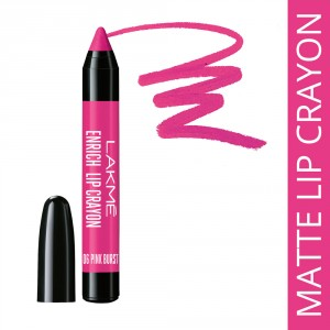 Buy Lakme Enrich Lip Crayon With Free Sharpener - Nykaa
