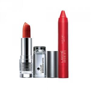 Buy Lakme Absolute Lip Tint/Pout Matte - Raving Red + Enrich Satin Lipstick - R358 - Nykaa