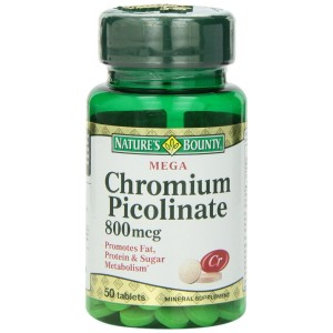 Buy Herbal Nature's Bounty Mega Chromium Picolinate 800mcg - Nykaa