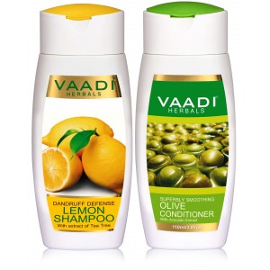 Buy Vaadi Herbals Dandruff Defense Lemon Shampoo With Olive Conditioner - Nykaa