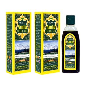 Buy Vaadi Herbals Value Pack Of 2 Amla Cool Oil With Brahmi & Amla Extract - Nykaa