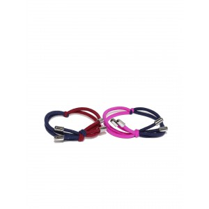 Buy Toniq Color Blocked Lily Rubber Band Set - Nykaa