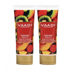 Buy Vaadi Herbal Value Pack of 2 Refreshing Fruit Pack with Apple, Lemon & Cucumber - Nykaa