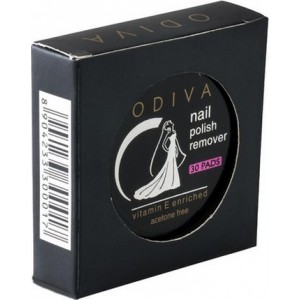 Buy Odiva Nail Remover Round Wipes (30 Pads) - Nykaa