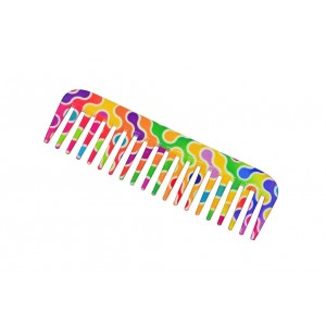 Buy FeatherFeel Printed Rainbow Cell Shampoo Comb - Nykaa