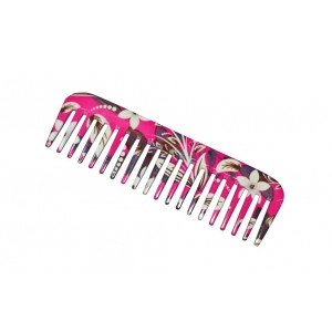 Buy FeatherFeel Printed Pink Floral Shampoo Comb - Nykaa