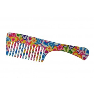Buy FeatherFeel Printed Hearts Unlimited Handle Comb - Nykaa
