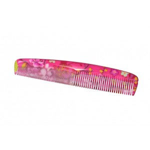 Buy FeatherFeel Printed Pink Chinaflower Classic Comb - Nykaa