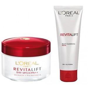 Buy L'Oreal Paris Revitalift Cream SPF 23 + Free Milky Foam - Nykaa