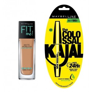 Buy Maybelline New York Fit Me Matte + Poreless Foundation - 330 Toffee + Free Colossal Kajal 24HR - Nykaa