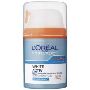 Buy L'Oreal Paris Men White Activ Power 8 Brightening Serum Moisturizer SPF 26 - Nykaa