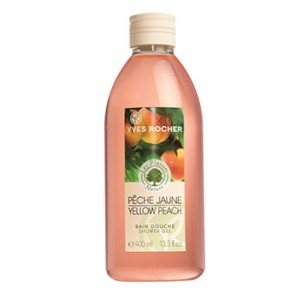 Buy Yves Rocher Les Plaisirs Yellow Peach Bain Douche Shower Gel - Nykaa