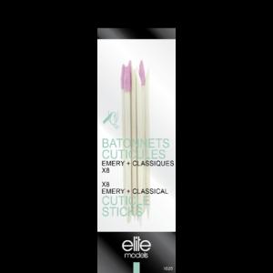 Buy Elite Models ABC1025 Nail Cuticle Sticks Set Of 8 - Nykaa