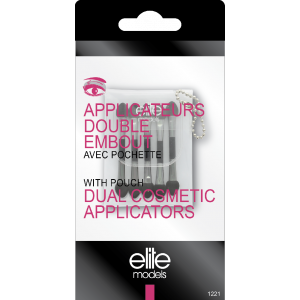 Buy Elite Models ABC1221 Dual Cosmetic Applicators With Pouch - Nykaa
