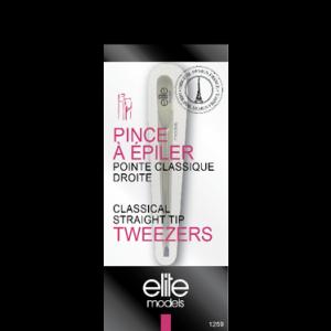 Buy Elite Models ABC1259 Classical Straight Tip Tweezers - Nykaa