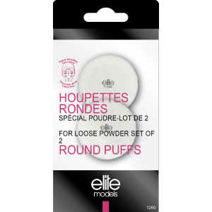 Buy Elite Models ABC1260 Round Puffs For Loose Powder Set Of 2 - Nykaa