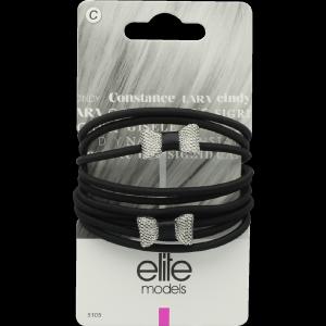 Buy Elite Models ABC5105B Fashion Hair Elastic Bands - Silver - Nykaa