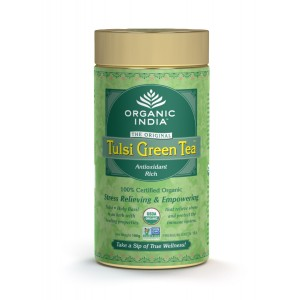 Buy Organic India Tulsi Green Tea Tin - Nykaa