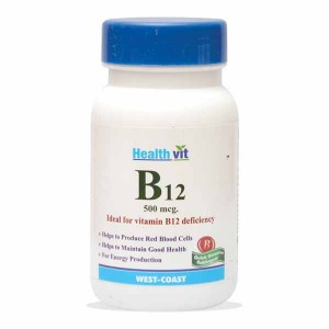 Buy HealthVit B12 Ideal for Vit B12 Deficiency 60 Tablets - Nykaa