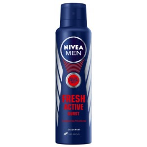 Buy Herbal Nivea Fresh Active Burst Deo Spray 150ml  - Nykaa
