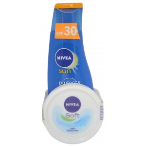 Buy Nivea Moisturising Sun Lotion SPF 30 + Free Soft Cream 25ml - Nykaa
