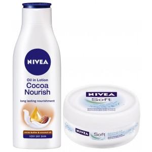 Buy Nivea Cocoa Nourish Body Lotion + Free Soft Creme - Nykaa