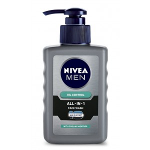 Buy Herbal Nivea Men Oil Control All In One Face Wash Pump - Nykaa