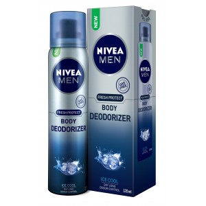 Buy Herbal Nivea Men Fresh Protect Body Deodorizer - Ice Cool - Nykaa