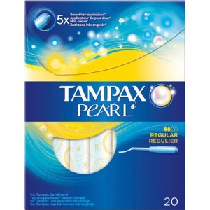 Buy Tampax Pearl Regular Applicator Pack Of 20 - Nykaa