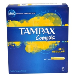 Buy Tampax Compak Regular Pack Of 8 - Nykaa