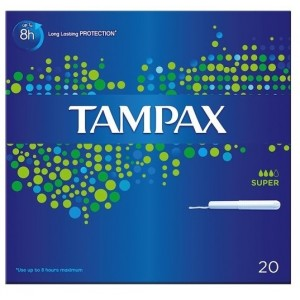 Buy Tampax Super Tampons With Carborad Applicator Pack of 20 - Nykaa